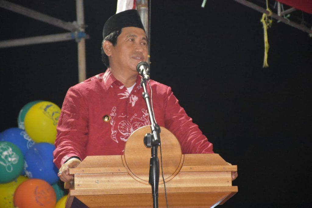 Foto Sambutan Bupati Banggai pada Pameran Pembangunan 2019 di Kecamatan Moilong (17/1).