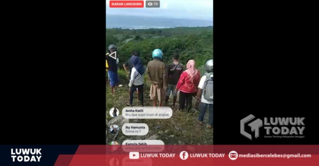 Foto Live FB kecelakaan maut sebuah truk di Bunga.