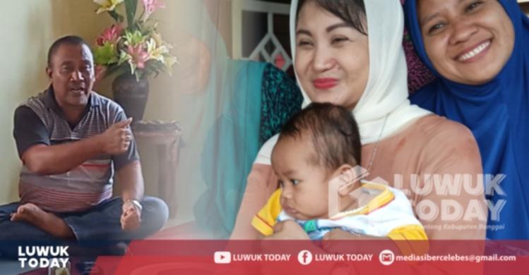 Foto Romy Botutihe ketika blusukan ke rumah warga sambil mengenalkan Amalya Murad yang merupakan putri asli daerah Kabupaten Banggai.