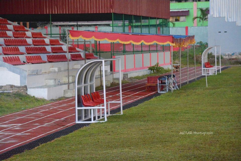 Foto Sudarto Sport Center lebih megah dan lengkap untuk digunakan sebagai spot utama kegiatan olahraga di Kabupaten Banggai.