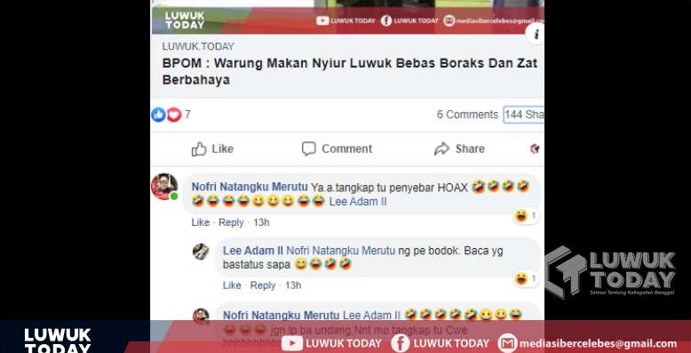 Photo of Heboh Hoaks RM Nyiur Luwuk, Netizen Minta Pembuat Hoaks Dicari