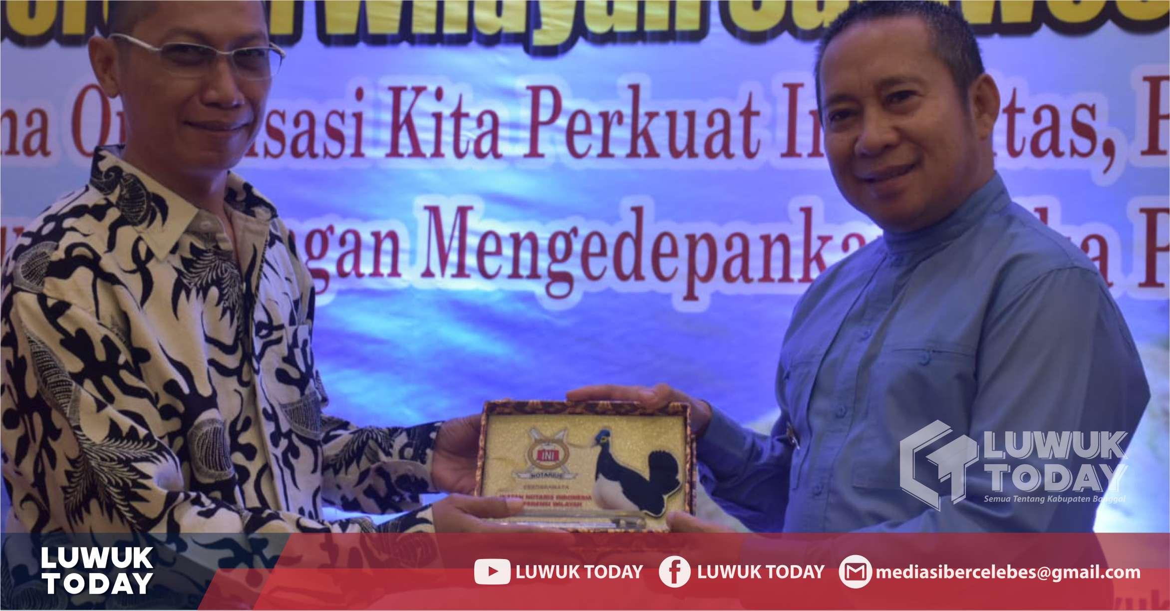 Foto Wakil Bupati Banggai H. Mustar Labolo menghadiri acara pembukaan Konferensi Ikatan Notaris Indonesia Sulawesi Tengah, di Hotel Santika Luwuk, Sabtu (14/9/2019).