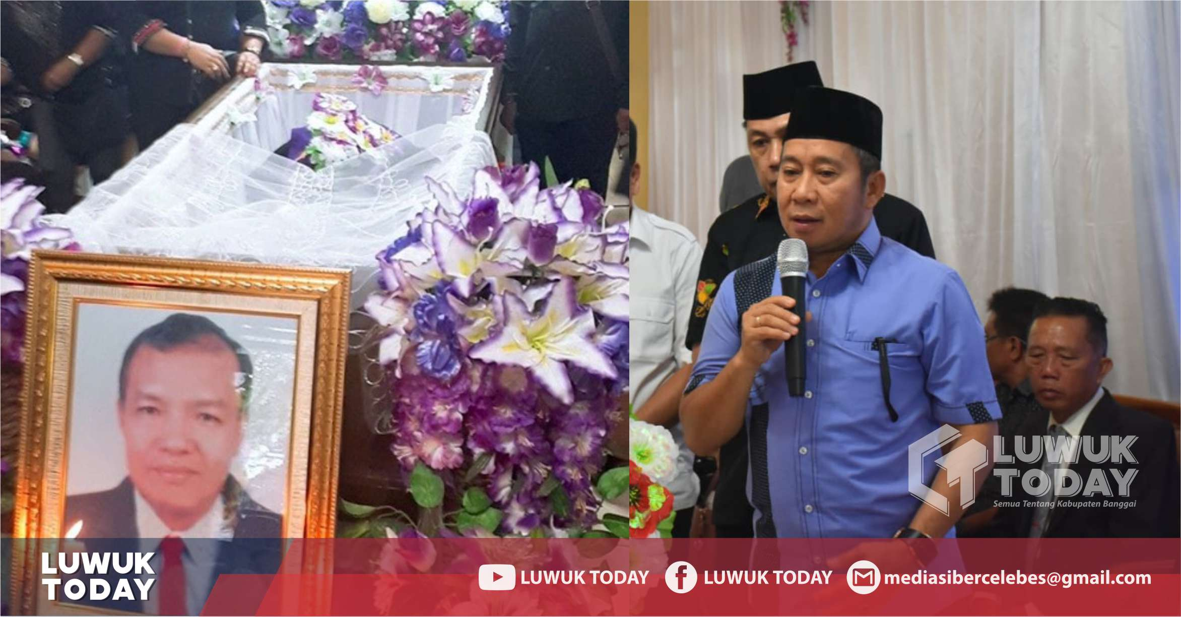 Foto Wakil Bupati Banggai H. Mustar Labolo saat pelepasan jenazah dr. Wendi R. Soleman, Sp.Rad.,M.Kes.