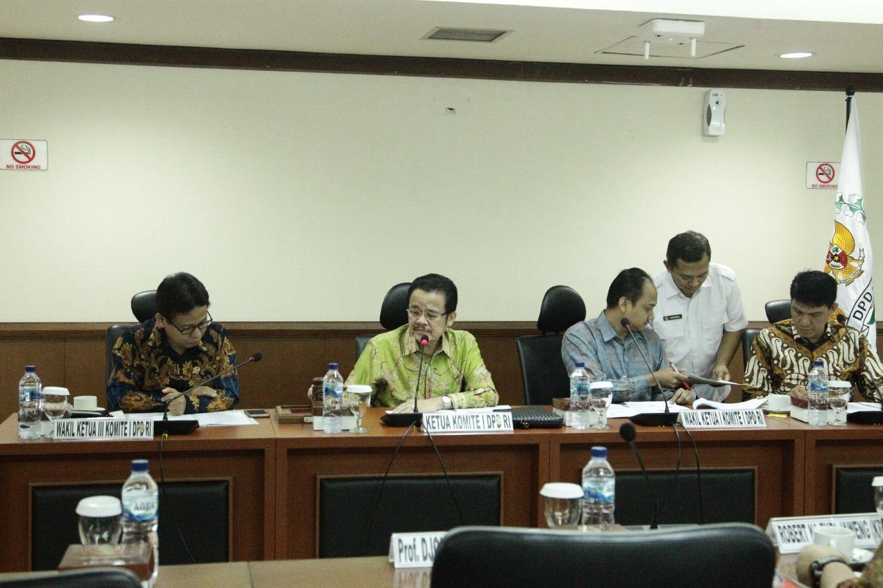 Foto Komite I DPD RI mendalami isu strategis otonomi daerah dan hubungan pusat-daerah