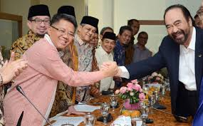 Foto Pertemuan ke dua pimpinan Partai Politik, PKS dan NasDem, di DPP PKS