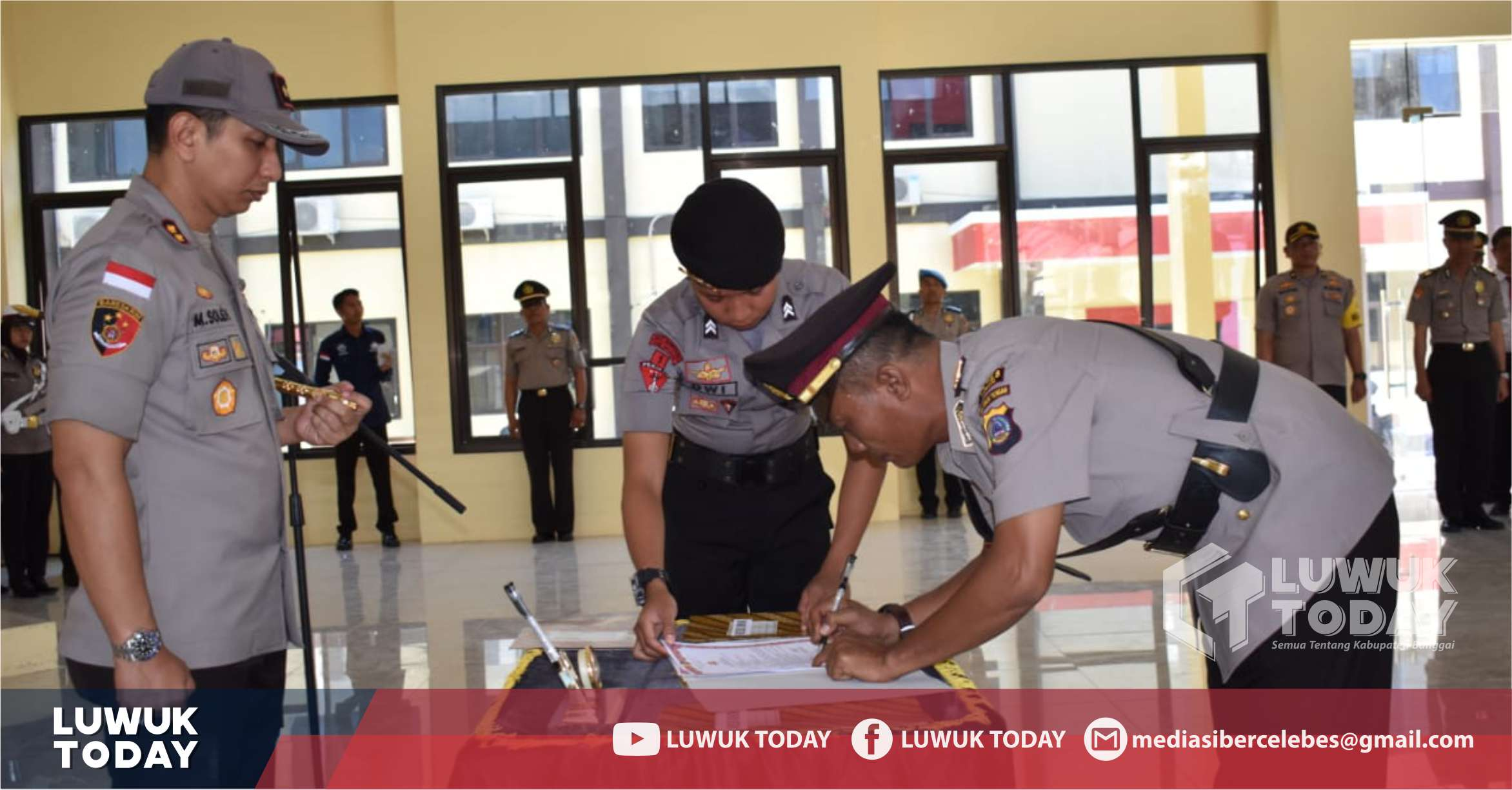 Photo of Sertijab di Polres Banggai, Sembilan Perwira Diisi Wajah Baru