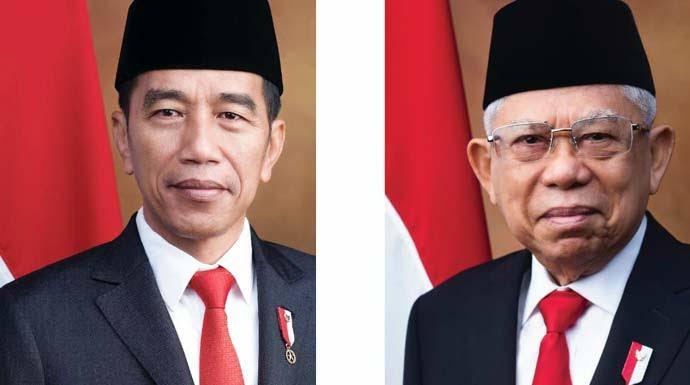 Presiden RI Ir. H. Joko Widodo dan Wakil Presiden RI  Prof. Dr. K.H. Ma'ruf Amin, akhirnya mengumumkan kabinet kerja jilid II.