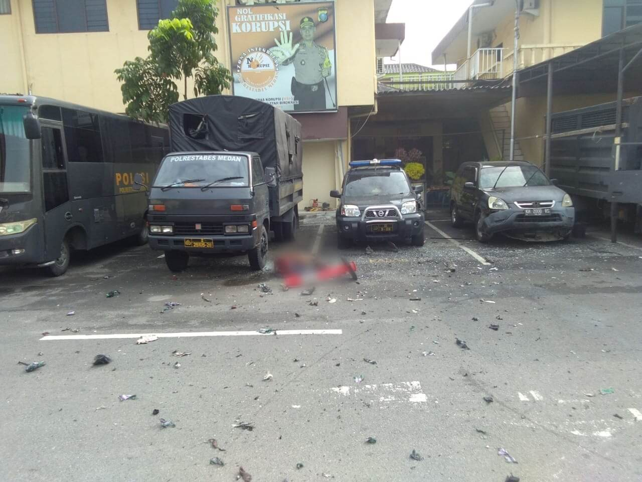 Foto Tragedi bom bunuh diri di Polrestabes Medan foto: istimewa