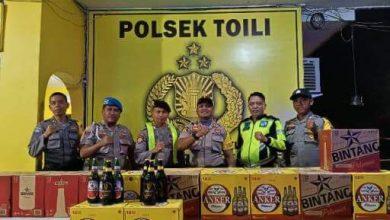 "Photo of Polsek Toili Amankan 307 Botol Miras dan Tertibkan Kafe ""Remang-remang"""