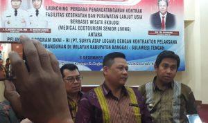 Foto Ketua Presidium BKNI - RI, RM Tri Harsono Akui Pembangunan Fasilitas Kesehatan dan Perawatan Lansia Berbasis Wisata Trobosan Baru /sumber foto: luwuk.today
