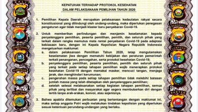 Photo of Agar Pilkada 2020 tidak Menjadi Klaster Baru Covid-19, Polda Sulteng Segera Sosialisasikan Maklumat Kapolri